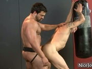 Hot jock gets assfucked at gym by nicejocks