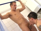 Fun shower blow job
