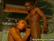 Horny black gay fucking tight dark hole