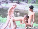 3 hot guys fucking a..