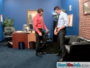 Two amazing guys having sex in office