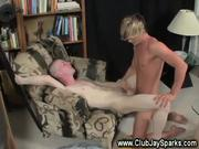 Blond Cutie Shoves His Pole Up My Booty