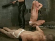 Sexy gay guys forced in bondage sex