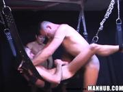 Breeding on a Sling WILD Dungeon Gay Porn