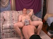 Big str8 beefy red head gets bj and rim.