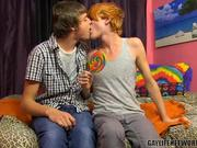 Ginger Eats a Lollipop & Takes Dick Deep