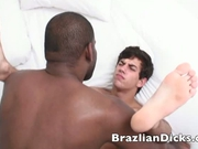 Brazilian wild guy having groupsex party