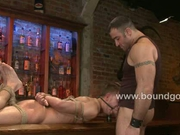 Spencer shows Zach the ropes on bondage