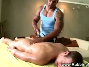 Straight guy gets a nice gay massage