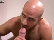 Bald Guy Is Hungry For The Cock