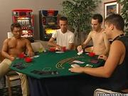 Strip poker inevitably leads to hot gay sex