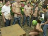 Gay guy humiliation in fetish gangbang