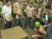 Gay guy humiliation in fetish gangbang