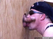 Some great dick sucking through a glory hole
