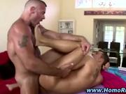 Muscular gay guy fucks straight guy ass