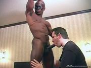 Super fit masked black man shows off hot body